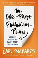 The One-Page Financial Plan: A Simple Way to Be Smart About Your Money by Richa