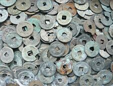Lot of 250g ancient Chinese coins in poor grade dug from Java