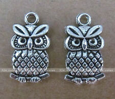 P029 10pcs Tibetan Silver Charm OWL Animals Accessories Beads Wholesale