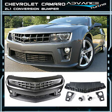 10-11-12-13 Chevy Camaro ZL1 Front Bumper Cover 8Pcs Bodykit PP Grille Diffuser