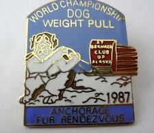 *1987* Fur Rendezvous Anchorage Alaska Dog Weight Pull Collector Pin