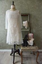 LAST 1XL Sale Jeanne d'Arc Living Vintage Style Creme Bobbin Lace Dress