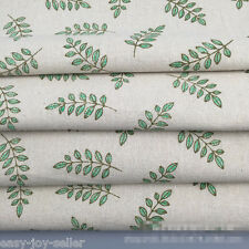50x150cm Cotton Linen Fabric Print Olive Branch ZAKKA DIY Home Deco Curtain 616E