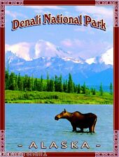 Denali National Park Alaska United States America Travel Advertisement Poster