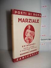 VOLUME Poeti di Roma MARZIALE EPIGRAMMI testo latino e traduzione ed.1942