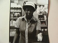 1980 Artistic Photo of McDonalds employee with hand out for money