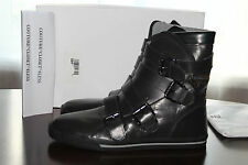 JUST CAVALLI LEATHER BUCKLE STRAP HIGH TOPS GREY #9us $550
