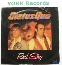 "STATUS QUO - Red Sky - Excellent Condition 7"" Single Vertigo QUO 19"