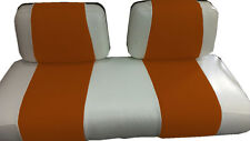 Club Car DS '99 & Dwn Golf Cart Deluxe™ Vinyl Seat Covers-Staple(Wht&Pnny Wise)