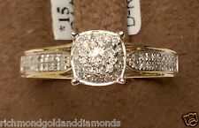 Yellow Gold Halo Vintage Antique Flower Style Diamonds Engagement Promise Ring