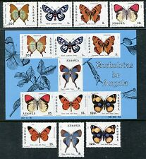 Angola 647- 653a. MNH, Insects Butterflies 1982. x23844