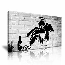 Bansky Angel Canvas Wall Art Picture Print 60x30cm
