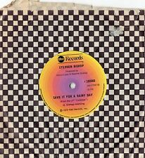 "STEPHEN BISHOP - SAVE IT FOR A RAINY DAY- RARE  7"" 45 VINYL RECORD - 1976"