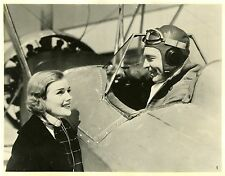 """LES CORSAIRES DE L'AIR (BORDER FLIGHT)"" Photo originale 1936 (Frances FARMER)"