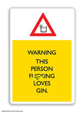Brainbox Candy Loves Gin fridge magnet funny rude cheap gift birthday present