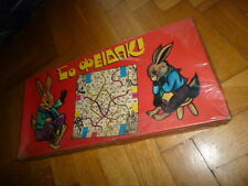 AMAZING VINTAGE RARE GREEK LITHO BOARD GAME SNAKES AND LADDERS FROM 70s SEALED