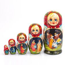 Russian Fairy Tale Princess Doll Matryoshka Nesting Doll Hand Painted in Russia