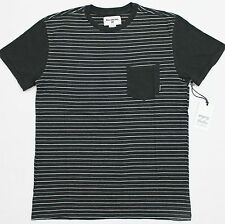 BILLABONG Men's Dark Gray Stripe Cotton SS Pocket Tee T-Shirt (XL) NEW NWT $35