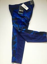 NEW Nike Pro Combat Blue Camo Hypercool Full Length Tights Size Medium