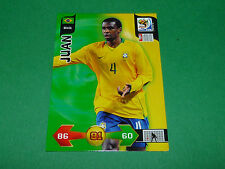 JUAN BRASIL PANINI FOOTBALL FIFA WORLD CUP 2010 CARD ADRENALYN XL
