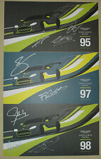 Le Mans FIA WEC Silverstone 2016 Aston Martin Racing Vantage GTE Signed Card Set