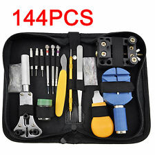 144 Pcs Watchmaker Watch Repair Tool Kit Back Case Opener Remover Spring Pin Bar