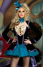COSTUME Adult Deluxe Queen of Heart Fancy Alice In Wonderland Halloween Dress