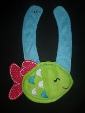 NEW Carter's Green Fish Baby Girl Terry Cloth Teething Drool Bib