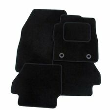 FIAT GRAND PUNTO 2006+ TAILORED CAR FLOOR MATS BLACK CARPET WITH BLACK TRIM