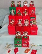 DISNEY MICKEY MINNIE MOUSE JC PENNEY MINI CHRISTMAS WATER SNOWGLOBE SET LOT 15