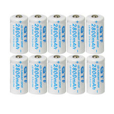 10x 3.7V Cr123A 123A Cr123 16340 2800mAh Gtl Rechargeable Battery for Pdas Toys