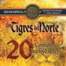 Herencia Musical: 20 Corridos Inolvidables by Los Tigres del Norte (CD,...