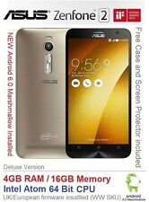 "Asus Zenfone 2 ZE551ML 5.5"" Android 6 Smartphone Dual SIM 4GB Ram Intel 4G"