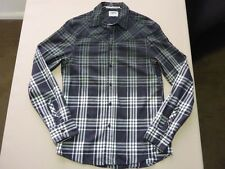 045 MENS NWOT ELWOOD BLACK / GREY / NAVY / WHITE CHECK L/S SHIRT MEDM $120.