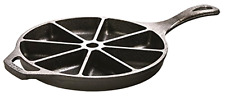 Cast Iron Skillet Cornbread Wedge Pan Cookware Cooking Kitchen Muffin Mold L8CB3
