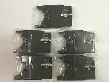 LC75 Black Ink Cartridges for Brother MFCJ955DN J435W J705D J825DW 6910DW - 5Pk