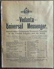 Vedanta Universal Messenger 1912 bimonttly published from Australia Ӝ