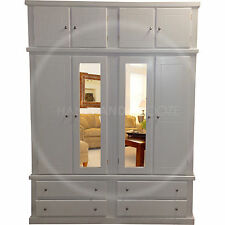 HAND MADE DEWSBURY FURNITURE 4 DOOR WARDROBE WITH TOPBOX WHITE(NO FLATPACKS)