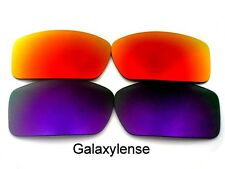 Galaxy Replacement Lenses For Oakley Gascan Purple&Fire Red Polycarbonate 2 Pair