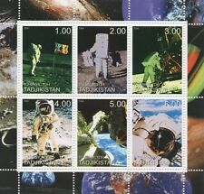 NEIL ARMSTRONG FIRST MAN ON THE MOON ASTRONAUT SPACE TRAVEL MNH STAMP SHEETLET