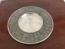 Unusual Royal Selangor Pewter Plate-Asean Glass Makers Fed Frm Magadi Soda Kenya