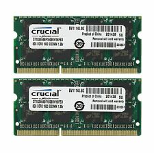 Crucial 16GB Kit 2 x 8GB DDR3 DDR3L 1600 MHz PC3-12800 Sodimm Memory Apple MAC