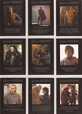 "Game of Thrones Season 2 - Q11-19 ""Quotable"" Set of 9 Chase Cards"