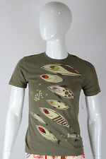 Paul Frank SMALL $36.40 CAD Mens Olive Green Funky Fish Food Frenzy T-Shirt NWT
