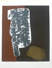 Michel Cadoret litho originale  signée art abstrait New York Mexique Paris P 683