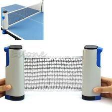 Games Retractable Table Tennis Ping Pong Portable Net Kit Replacement Grey