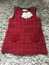 BRAND NEW BABY GIRL 'ZARA' RED CHECK DRESS. SIZE 18-24 MONTHS. LABELS ATTACHED.