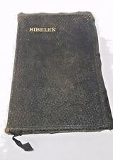 VTG Norwegian Bible Leather Cover Oslo Norway Bibelen 1952