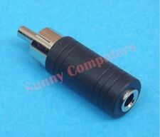 RCA Male to 3.5 mm AUX Audio Mono Female Plug Jack Adapter Converter Connector