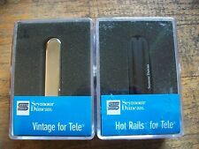 SEYMOUR DUNCAN STHR-1B HOT RAIL TELECASTER HUMBUCKER BRIDGE STR NECK PICKUP SET